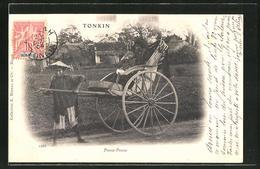 AK Tonkin, Pousse-Pousse, Rikscha - Cartes Postales