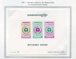 Khmère - Khmer - Cambodge Bloc Feuillet 1972 Y&T N°BF29 - Michel N°B29 *** - Nations Unies - Kampuchea