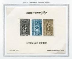 Khmère - Khmer - Cambodge Bloc Feuillet 1973 Y&T N°BF31 - Michel N°B31 *** - Temple D'Anghor - Kampuchea