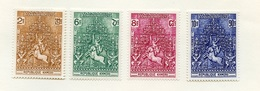Khmère - Khmer - Cambodge Taxe 1974 Y&T N°T6 à 9 - Michel N°T6 à 9 *** - Frise Du Temple D'Anghor - Kampuchea