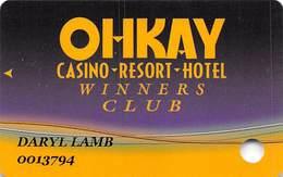 Ohkay Casino - San Juan Pueblo, NM - Slot Card - Casino Cards