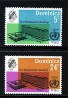 DOMINICA - 1966 WORLD HEALTH ORGANISATION WHO SET (2V) FINE MNH ** SG 195-196 - Dominica (1978-...)
