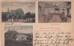 Neumarkt (Ober-steiermark) Austria, Felsenkeller, Salon Reiterer & Villa Kaiser, C1900s Vintage Postally Used Postcard - Neumarkt