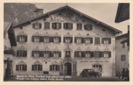 Reutte (Tirol) Austria, Gasthof Zum Schwarzen Adler, Lodging, Auto, C1950s Vintage Real Photo Postcard - Reutte