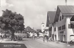 Reutte (Tirol) Austria, Hauptstrasse High Street Scene, Bicycles Autos, C1950s/60s Vintage Real Photo Postcard - Reutte