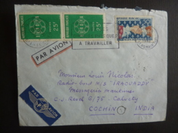 ERINNOPHILIE TIMBRES 1960 EUROPA  FLAMME  EXPEDIE PAR AVION  à CALVETY CICHIN INDIA   Oct 2018 Alb 5 - Marcophilie (Lettres)