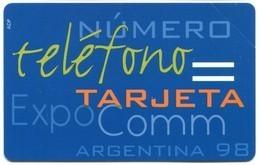 Urmet Italtel Expo Comm Argentina '98 (MINT) RRRRRR - Argentina