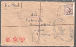 Military 1945 Censored Air Letter From Air Force PO 80 Hollandia, Dutch New Guinea To Tattersalls - Lettres & Documents