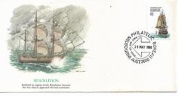 Australia Antarctic Territory Cachet FDC 1980 ,$1 Sailing Ships ,Resolution ,VF ! - Ships