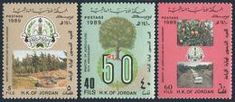Jordan 1355-1357,MNH.Mi 1431-1433. Ministry Of Agriculture,50,1989.Trees,apiary - Jordan