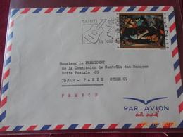 Lettre De Polynesie De 1972 Avec No 65 Poste Aerienne - Polynésie Française