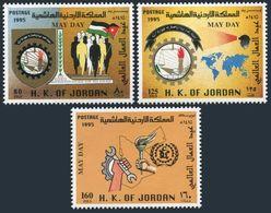 Jordan 1514-1516,MNH.Michel 1564-1566. May Day,1995.Workers,map. - Jordan