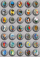Marc Chagall Painting Fan ART BADGE BUTTON PIN SET 5 (1inch/25mm Diameter) 35 DIFF - Pin