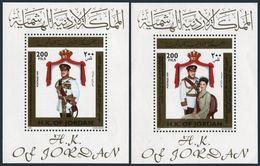 Jordan 1670,1670D,MNH. Coronation Of King Abdullah II,1999.King And Queen Rania. - Jordan