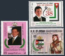 Jordan 1671-1673,MNH. King Abdullah II,38th Birthday,1999. - Jordan