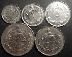 Iran Complete 50th Anniv. Set 1+2+5+10+20 Rials 1976 MS 2535 Top Grade Rare! - Iran