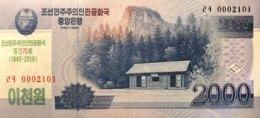 North Korea 2.000 Won, P-NEW (2018) - 70 Years DPRK Commemorative Note - (UNC) - Corée Du Nord