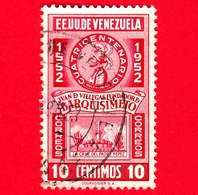 VENEZUELA - Usato - 1952 - 400 Anni Di Juan De Villegas - Fondatore Di  Barquisimeto - 10 - P. Aerea - Venezuela