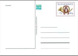 CDV 243 Slovakia Post Horn 2015 - Ganzsachen