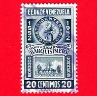 VENEZUELA - Usato - 1952 - 400 Anni Di Juan De Villegas - Fondatore Di  Barquisimeto - 20 - P. Aerea - Venezuela