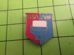 1418a Pin's Pins / Belle Qualité Et TB état !!!! : THEME SPORTS / BOXE USA ABF FEDERATION US DE BOXE - Boxe