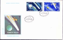 Rumänien Romania Roumanie - Halleyscher Komet (MiNr. 4228/9) 1986 - FDC - FDC