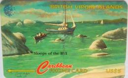 218CVVA Sloops $5 - Virgin Islands