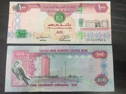 UAE 2018 100 Dirhams UNC Banknote New Redrawn Design With Security Features - United Arab Emirates