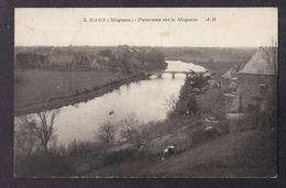 CPA 53 - DAON - Panorama Sur La Mayenne - TB PLAN Fleuve + TB Habitation à Droite - France