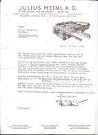 WIEN,1938 JULIUS MEINL A. G. - KAFFEE UND TEE IMPORT - GREG 1862  Invoice Faktura - Austria Wien - Autriche