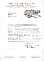 WIEN,1938 JULIUS MEINL A. G. - KAFFEE UND TEE IMPORT - GREG 1862  Invoice Faktura - Austria Wien - Austria