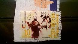 FRANCOBOLLI STAMPS COSTA RICA 1998 SERIE 50 ANNI SECONDA REPUBBLICA SU FRAMMENTO FRANGMENT - Costa Rica