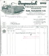 WIEN,1933 IMPERIAL FEIGENKAFFEE FABRIK  - KARL KUHLEMANN  Invoice Faktura - Austria Wien - Österreich