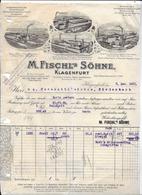 Klagenfurt,1932 M FISCHL'S SÖHNE  - Spiritus RAFFINERIE  Invoice Faktura - Austria Klagenfurt ( Gravure Train Vapeur ) - Österreich
