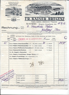 BREGENZ,1932 FR. KAISER BREGENZ - Fabrik Medicin Diätetischer Präparate  Invoice Faktura - Austria BREGENZ - Austria