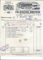 BREGENZ,1932 FR. KAISER BREGENZ - Fabrik Medicin Diätetischer Präparate  Invoice Faktura - Austria BREGENZ - Autriche