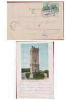 Deutsches Reich 1902 - 5 Pf. Pfennig Deutschland Briefmarke - Bielefeld Postkarte Gruss Vom Dreikaiserthurm Bei - Allemagne