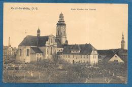 STRZELCE OPOLSKIE GROSS-STREHILTZ  O.-S. KATH. KIRCHE MIT PFARREI 1921 MIT STEMPEL COMMISSION DE GOUVERNEMENT - Pologne