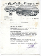 BREGENZ,1933 FR. KAISER BREGENZ - Fabrik Medicin Diätetischer Präparate  Invoice Faktura - Austria BREGENZ - Österreich
