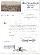 LINZ,1934 HEINRICH FRANCK SÖHNE A.G. - Kaffemittelfabrik LINZ A.D.  Invoice Faktura - Austria LINZ - Österreich