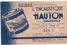 SAINT NAZAIRE (44 Loire Atlantique) Buvard A HAUTON   Encaustique    (PPP8598) - Wash & Clean