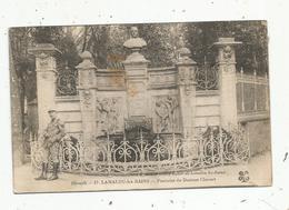 Cp,  Militaria , Militaire ,34 ,LAMALOU LES BAINS , Fontaine Du Docteur CHARCOT ,voyagée 1922, N° 17 - Personnages