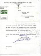 Göss (Gemeinde Leoben) 1936 GÖSSER BRAUEREI = AKTIENGESELLSCHAFT GÖSSER BIER Invoice Faktura - Austria Göss - Autriche