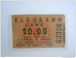Ticket Gent Gand Cinema ELDORADO 10 Fr 1953 - Tickets D'entrée