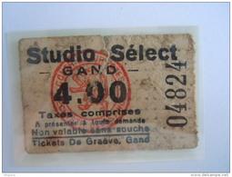 Ticket Gent Gand Cinema STUDIO SELECT 4 Fr 1935 - Tickets D'entrée