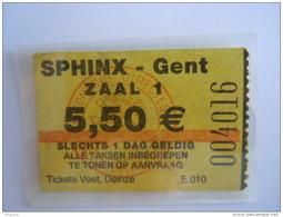 Ticket Gent Gand Cinema SPHINX - Tickets D'entrée