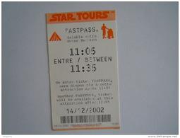 Ticket Disney Fastpass Star Tours 2002 - Tickets D'entrée