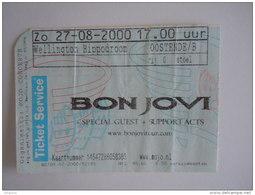Ticket Bon Jovi Oostende Wellington Hippodroom 2000 - Tickets D'entrée