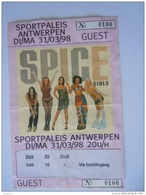 Ticket Guest SPICE GIRLS Sportpaleis Antwerpen 1998 - Tickets D'entrée