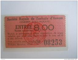 Ticket Jardin Zoologique Anvers Entrée Dierentuin Van Antwerpen - Tickets - Entradas